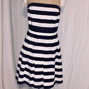 White House Black Market Wear and Flare Striped